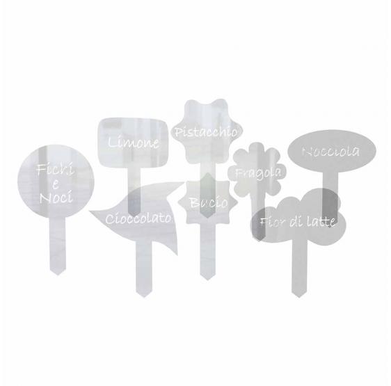 Palette segnagusti per gelati in plexiglass trasparente  - Plexiglass D'Autore