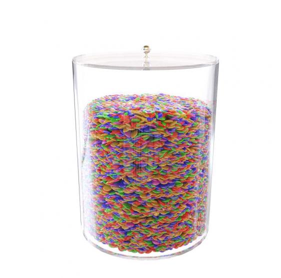 tubo porta caramelle in plexiglass 16 x 20cm