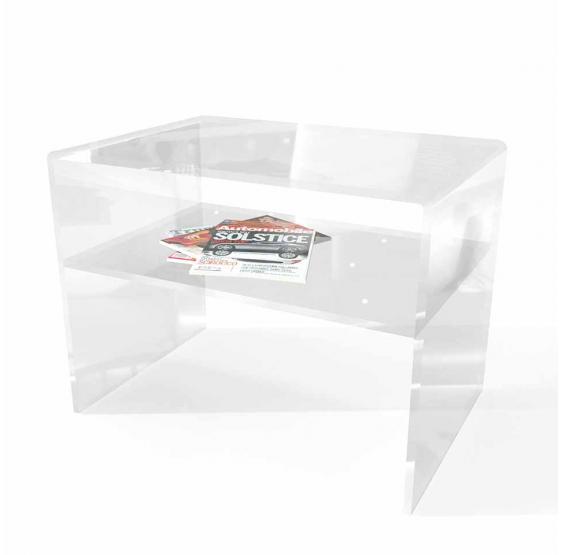Comodino/Tavolino + Mensola Plexiglass trasparente Spessore 10 mm
