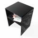 Comodino con Mensola Plexiglass Nero Spessore 10mm
