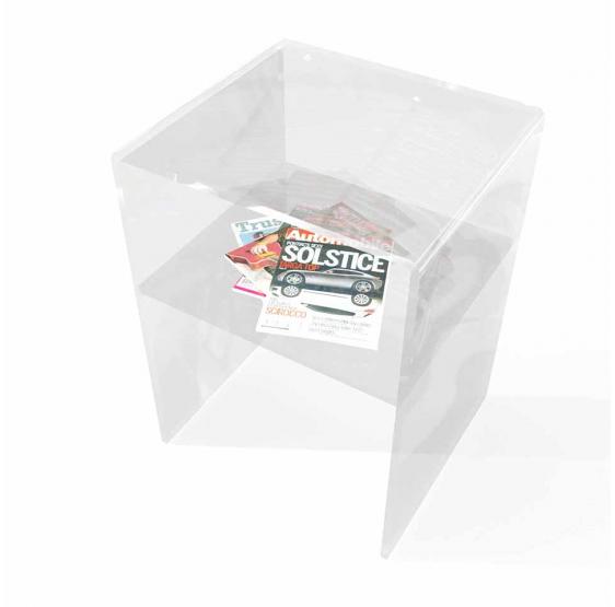 Comodino con Mensola Plexiglass trasparente Spessore 10mm