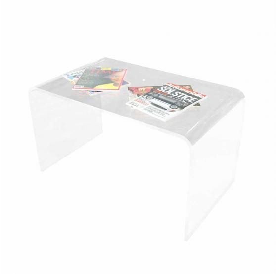 Tavolino da salotto in Plexiglass trasparente 70x40x40 cm