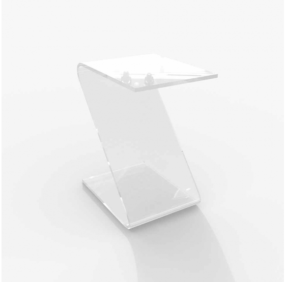 TAVOLO DA SALOTTO in Plexiglass brillante trasparente ZETA