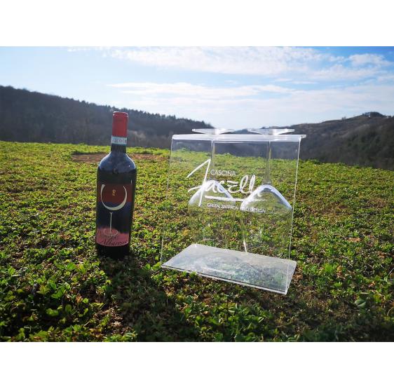 Affinity porta calici da banco per vino con incisione personalizzata