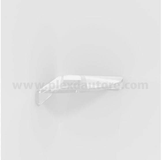 Mensola curva ad angolo in Plexiglass 6 mm con kit di montaggio