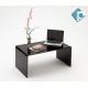 Mobile Tavolino Alzata Porta TV in Plexiglass Nero 70x30x15 cm - Plexiglass D'Autore
