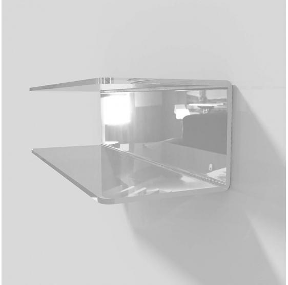 Mensola lunga a C in plexiglass vari colori