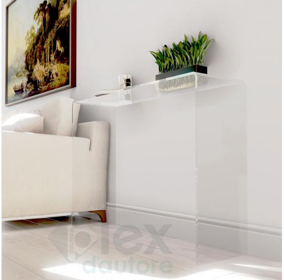 Consolle scrivania 100 cm 110 cm in plexiglass trasparente spessore 12 - 15 mm