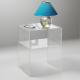 Comodino con Mensola Plexiglass Spessore 10mm