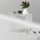 Tavolo consolle alto 68 cm in plexiglass trasparente
