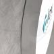 Insegna circolare luminosa con profilo in alluminio