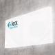 Insegna rettangolare luminosa in plexiglass
