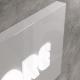 Insegna rettangolare luminosa in dibond con lettere in rilievo