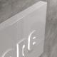 Insegna rettangolare luminosa in dibond con lettere distanziate