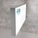 Insegna rettangolare luminosa a bandiera con profilo in alluminio