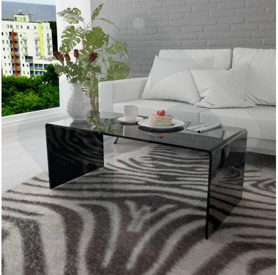 Tavolino da salotto in Plexiglass nero lucido - Plexiglass D'Autore