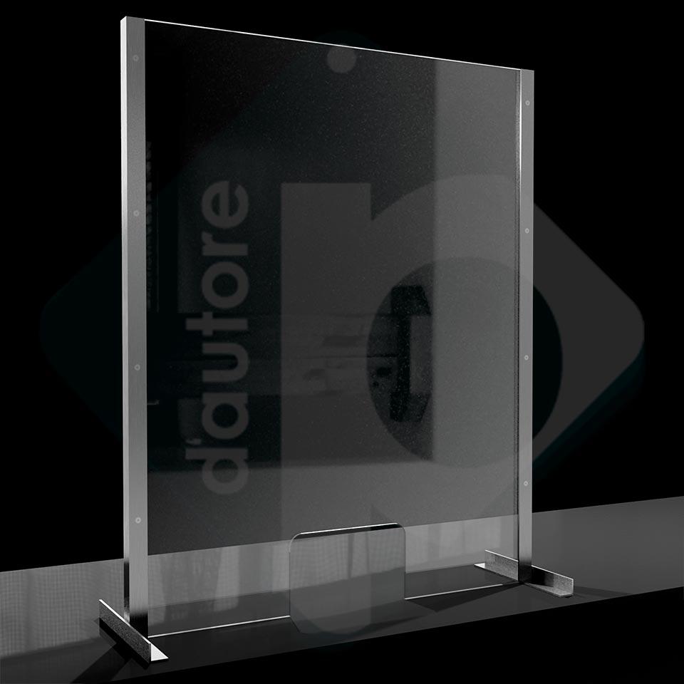 Divisori In Plexiglass Per Esterni barriera divisorio di protezione in plexiglass e alluminio