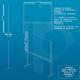 Scheda tecnica pannello divisorio rialzato in plexiglass e alluminio