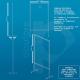 Scheda tecnica Pannello divisorio alto in plexiglass e alluminio con rotelle