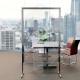 Pannello divisorio alto in plexiglass e alluminio