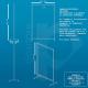 Scheda tecnica pannello divisorio in plexiglass e alluminio con rotelle