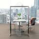 Pannello divisorio in plexiglass e alluminio