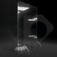 Barriera divisorio di protezione con piedi in plexiglass