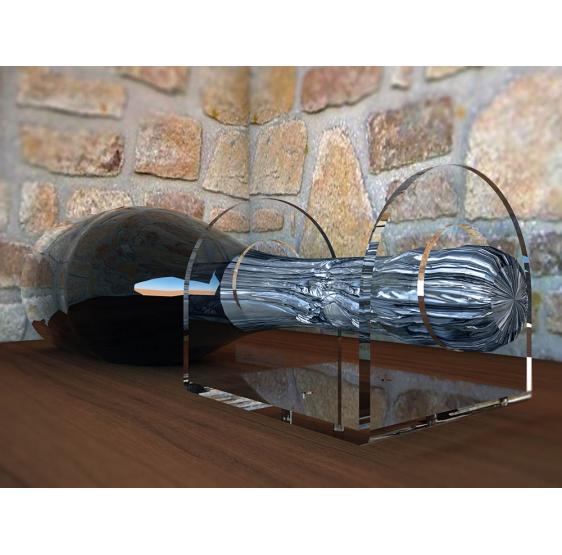 10 Portabottiglie singolo in plexiglass da parete modello LACRIMA PROSECCO - Plex D'Autore