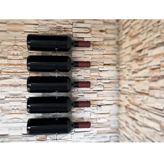 Verdicchio portabottiglie verticale da parete 5 bottiglie vino