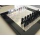 Scacchiera da Tavolo in plexiglass trasparente brillante e nero lucido cm.51x51 - Plexiglass D'Autore
