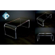 Tavolino basso porta TV in plexiglass trasparente h 20 cm