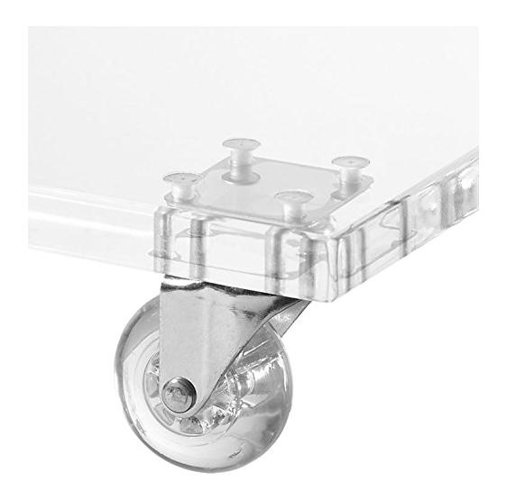 Tavolo/Tavolino trasparente servitore per divano con ruote - Plexiglass D'autore