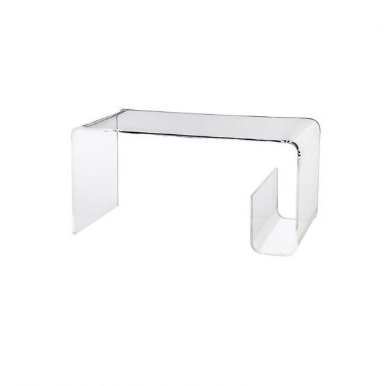Tavolo 70x40x40 cm in Plexiglass trasparente brillante - Plexiglass D'Autore