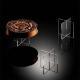 Alzata per torte da vetrina in plexiglass trasparente - Plexiglass D'Autore