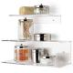 Composizione doppia mensola bagno cucina a muro in plexiglass - pexiglass d'autore