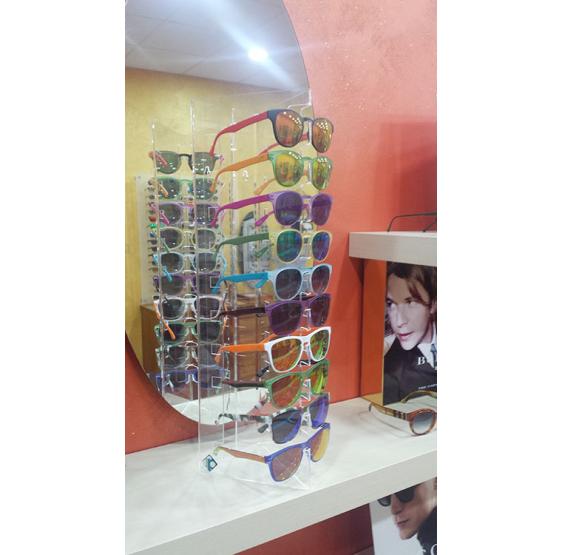 3 Espositori Porta Occhiali da Tavolo/Parte in plexiglass trasparente brillante  - Plexiglass D'Autore