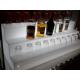 Espositore/Bottigliera luminosa modello a 3 gradini - Plexiglass D'Autore