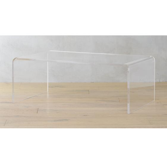 Tavolo 100x50x40 cm in Plexiglass trasparente brillante - Plexiglass D'Autore