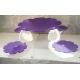 ALZATA CIGNO in plexiglass bianco latte e fuxia satinato a 5 posti - Plexiglass D'Autore