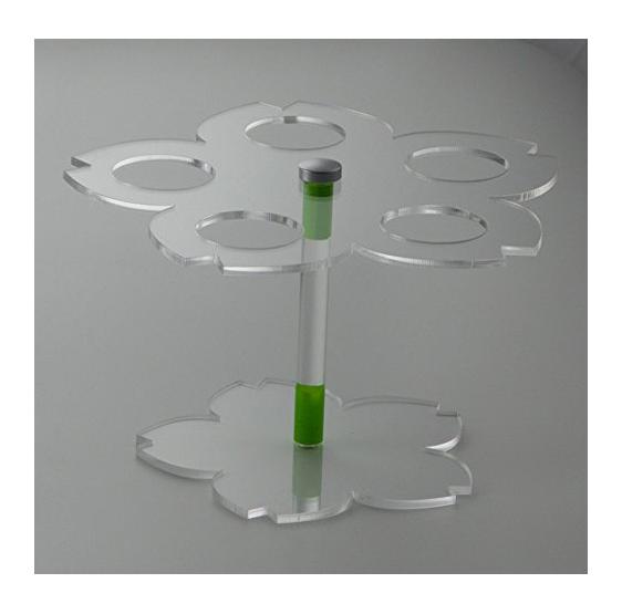 Porta Coni da Banco in Plexiglass Trasparente a 5 fori mod. Petalo