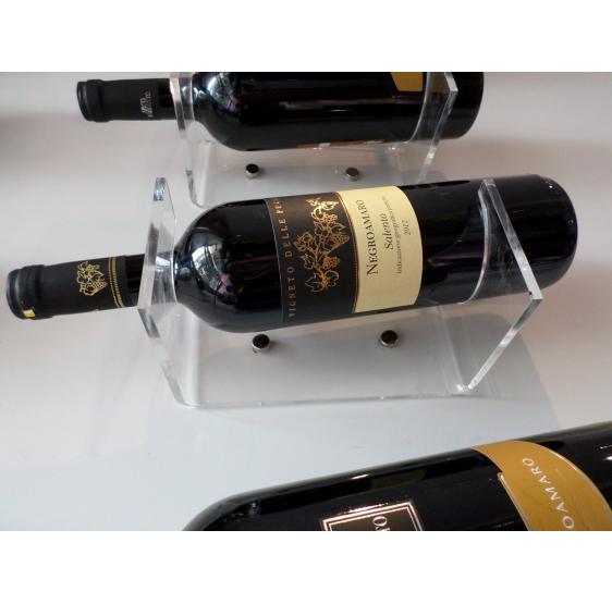Espositore (20 espositori) Porta Bottiglia Vino in Plexiglass trasparente - Plex D'Autore