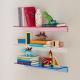 Composizione Doppia Mensola Bagno Cucina a Muro in Plexiglass - Plexiglass D'Autore