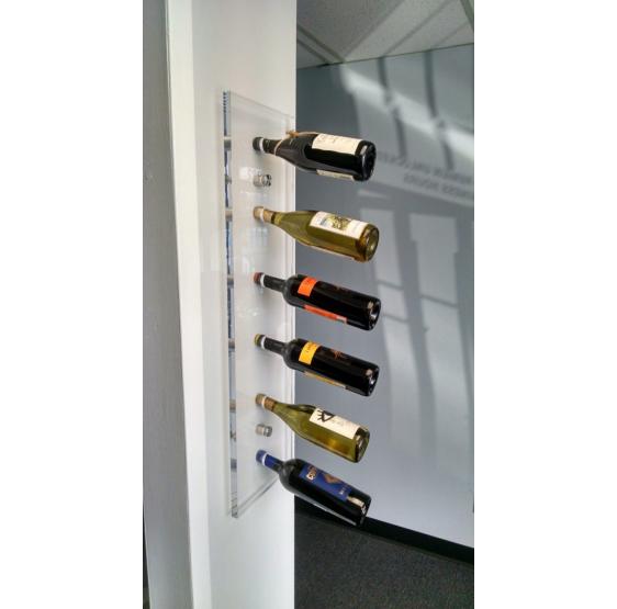Elegance porta bottiglie verticale da parete 6 posti frontali