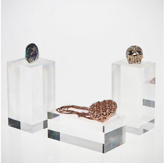 24 Pz Espositore Alzata per gioielli orecchini collane in plexiglass trasparente - Plexiglass D'autore