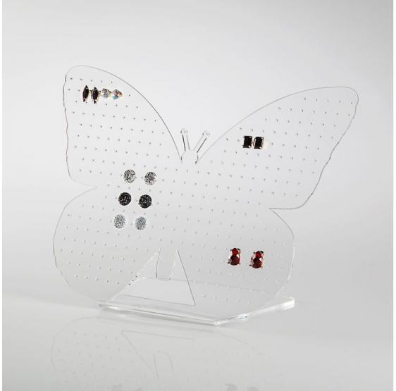 BUTTERFLY Display Espositore per Orecchini in plexiglass trasparente - Plexiglass D'Autore