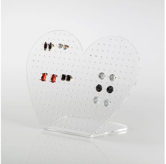 Display Espositore per Orecchini in plexiglass trasparente - Plexiglass D'Autore