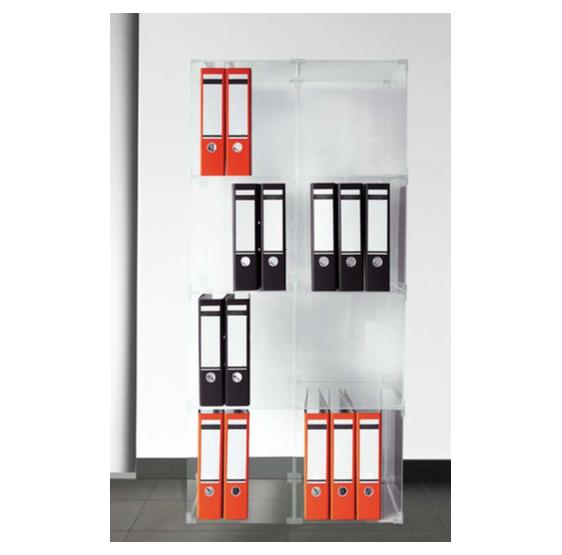Sistema modulare ad incastro 8 cubi in plexiglass trasparente - Plexiglass D'Autore