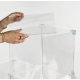Sistema modulare ad incastro 9 cubi in plexiglass trasparente - Plexiglass D'Autore