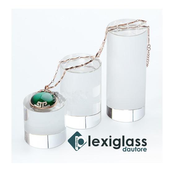 39 Pz Espositore Alzata per gioielli orecchini collane in plexiglass trasparente - Plexiglass D'autore