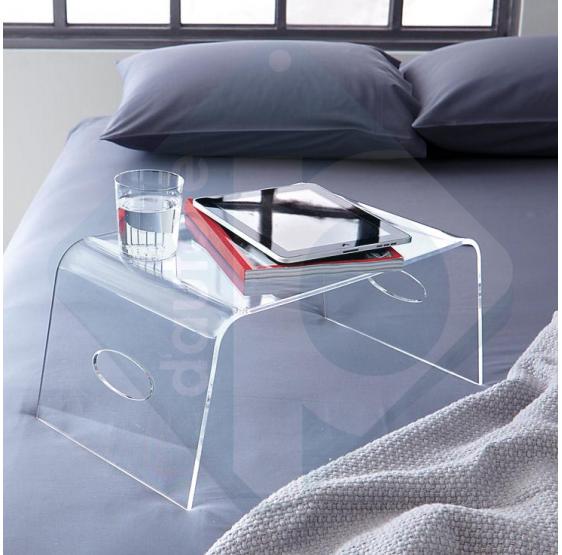 Tavolino trasparente servitore per letto - Plexiglass D'autore